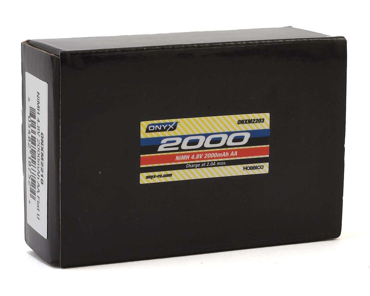 Onyx AA Flat NiMH Receiver Battery w/Universal Plug (4.8V/2000mAh)