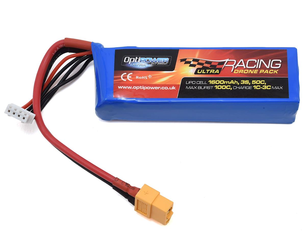 3S 50C LiPo Battery (11.1V/1600mAh) by Optipower
