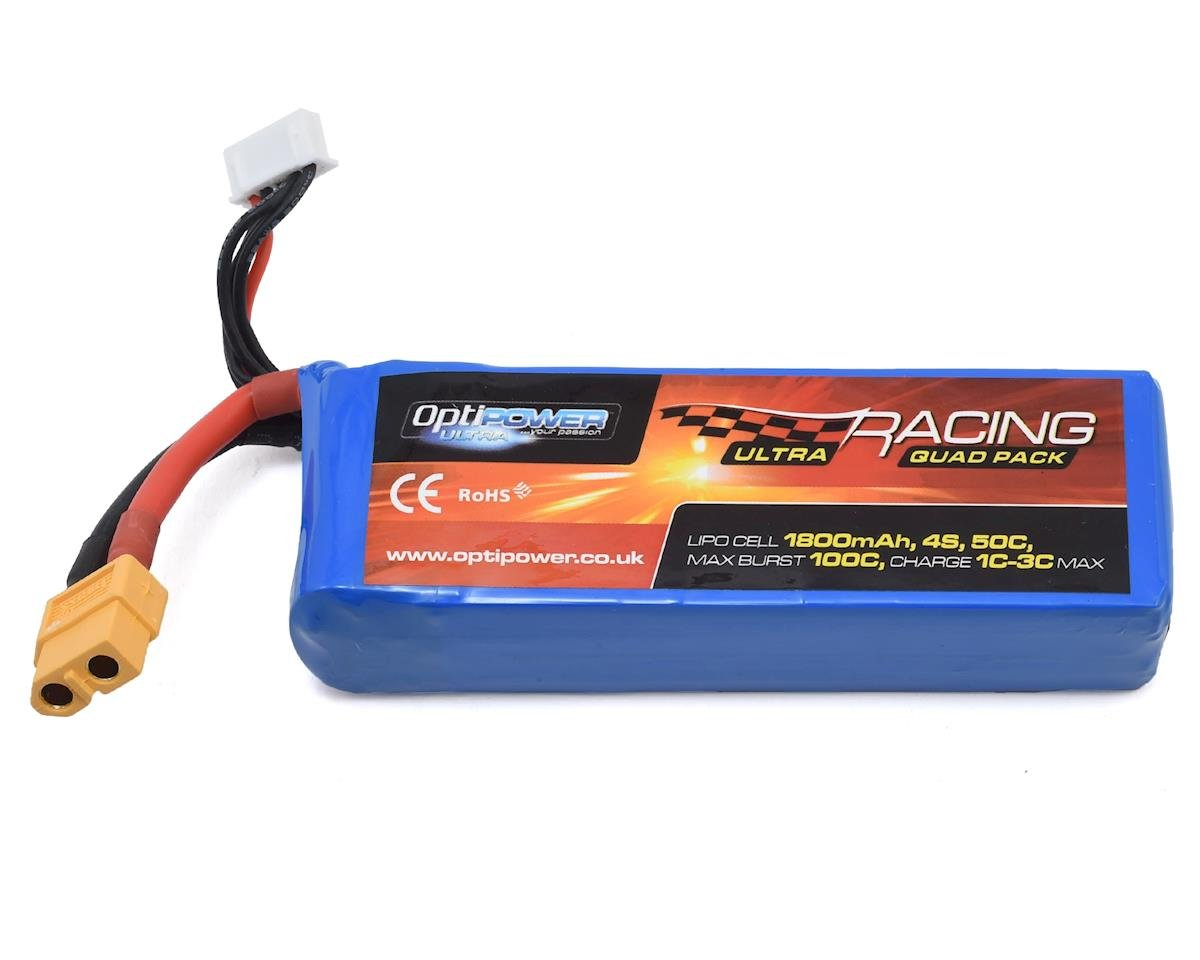 Optipower 4S 50C LiPo Battery (14.8V/1800mAh)