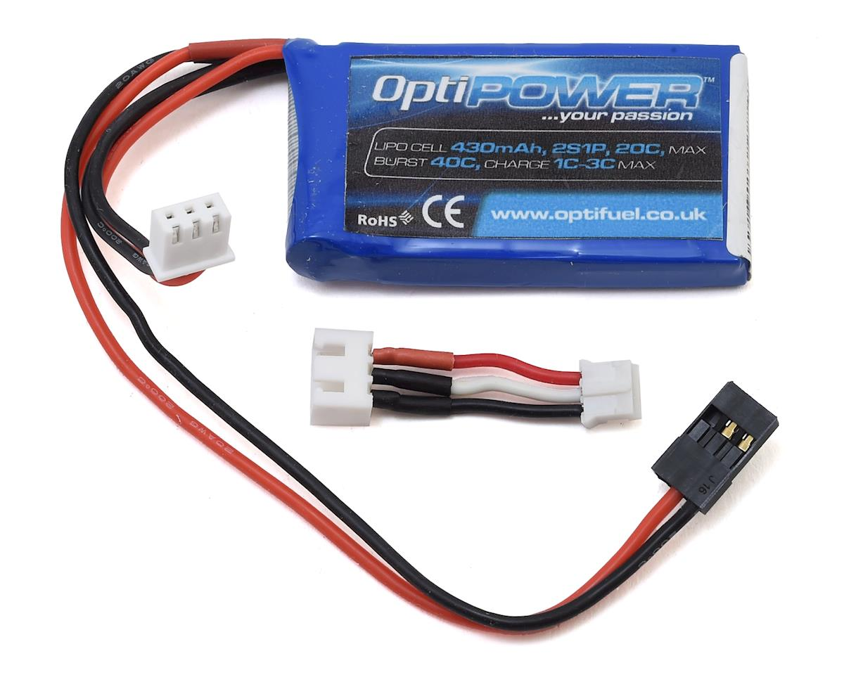 2S 20C LiPo Receiver Battery (7.4V/430mAh)
