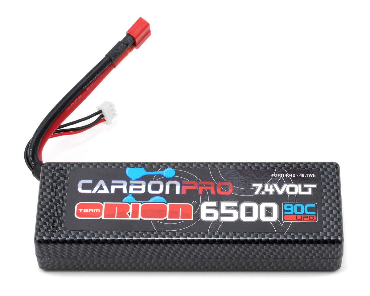 "Team Orion 2S ""Carbon Pro"" 90C Li-Poly Battery Pack w/Deans (7.4V/6500mAh)"