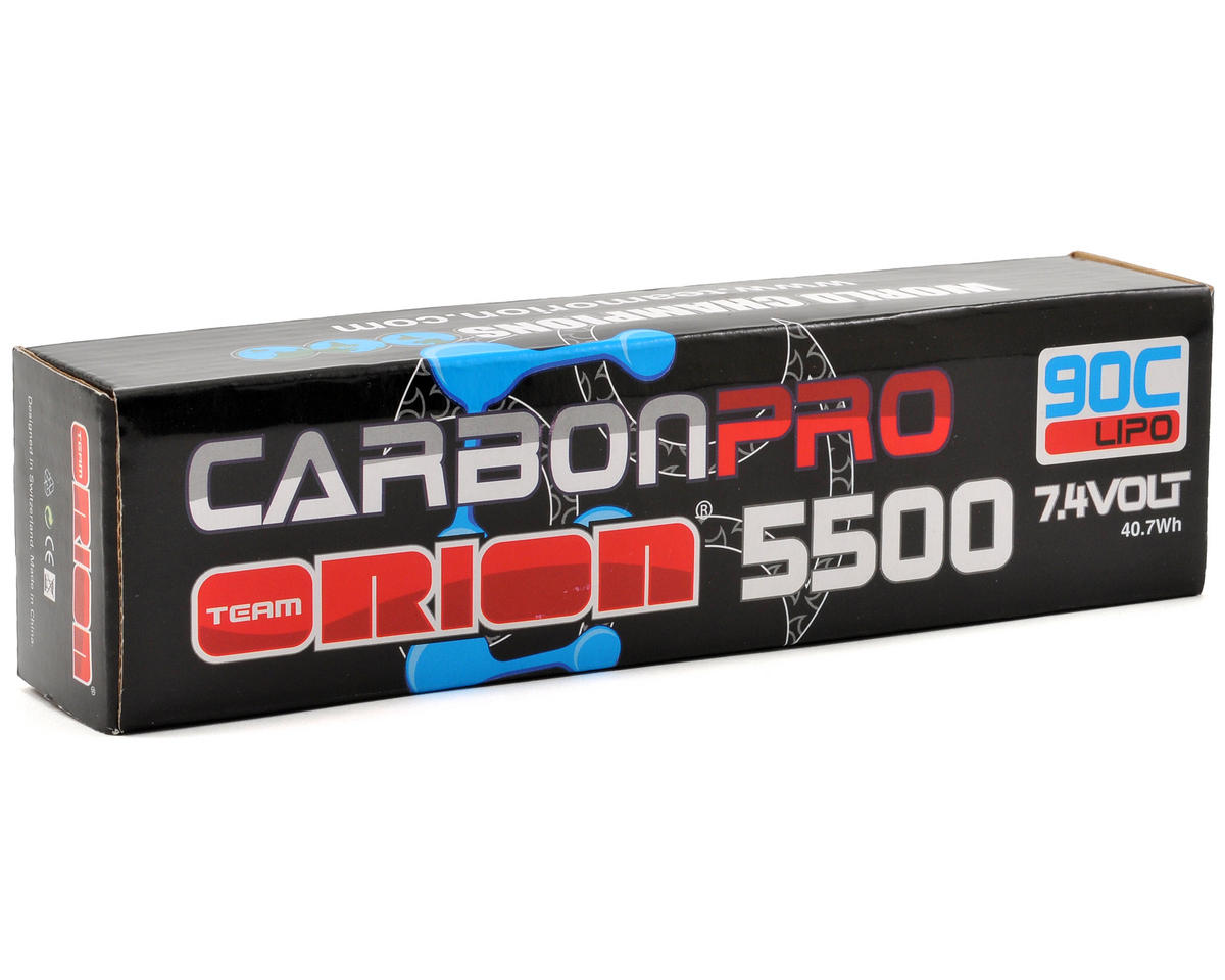 "Team Orion 2S ""Carbon Pro"" 90C Li-Poly Saddle Pack Battery w/Deans (7.4V/5500mAh)"