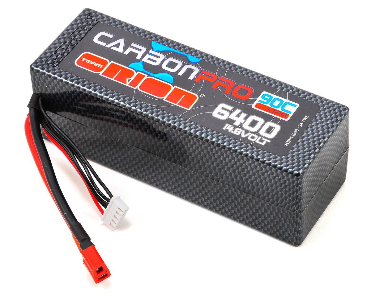 "Team Orion 4S ""Carbon Pro"" 90C Li-Poly Battery Pack w/Deans (14.8V/6400mAh)"