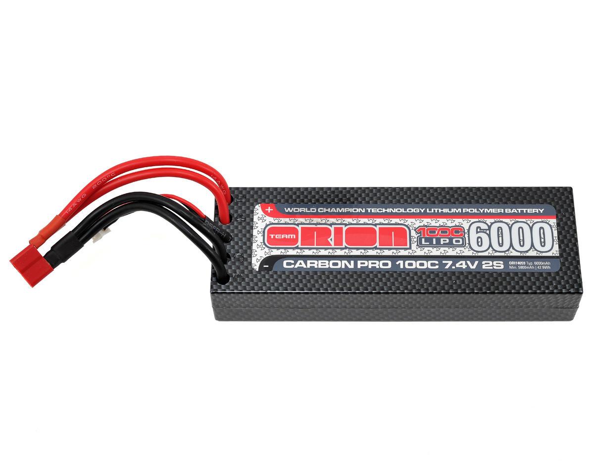 "Team Orion 2S ""Carbon Pro"" 100C LiPo Battery Pack w/Deans (7.4V/6000mAh)"