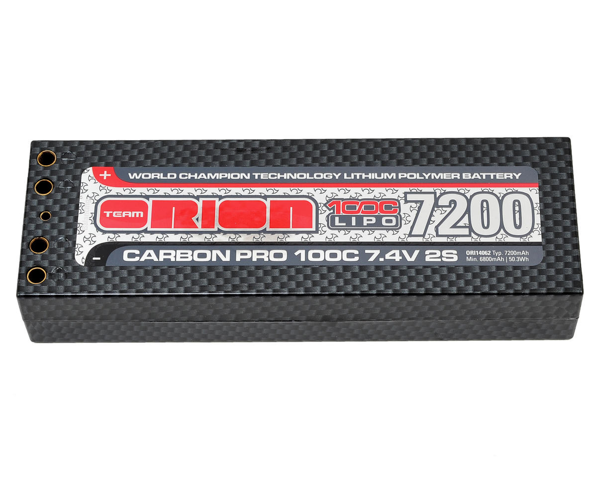 "Team Orion 2S ""Carbon Pro"" 100C LiPo Battery Pack w/Tubes (7.4V/7200mAh)"