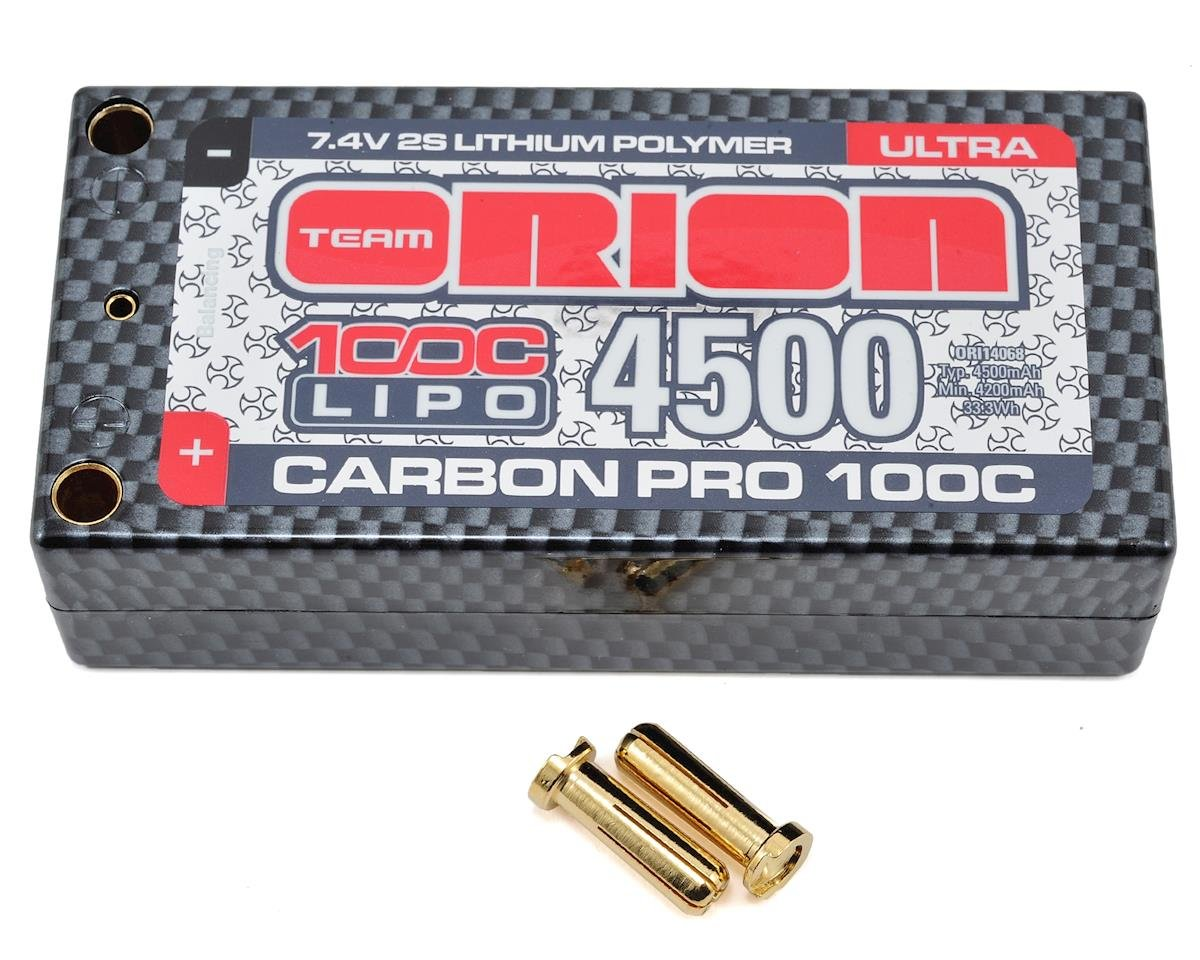 2S Carbon Pro 100C LiPo Ultra Shorty Pack Battery (7.4V/4500mAh)