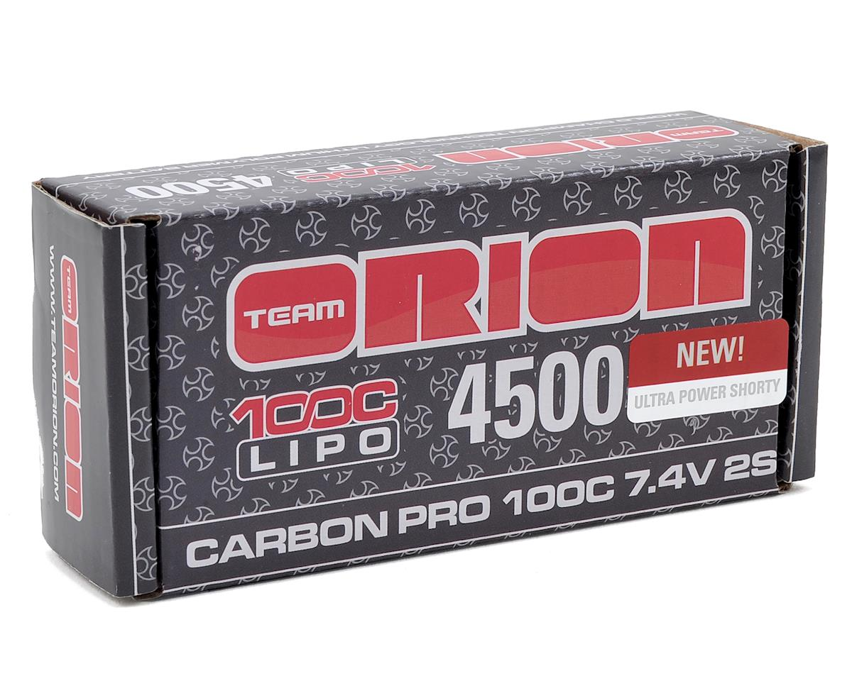 Team Orion 2S Carbon Pro 100C LiPo Ultra Shorty Pack Battery (7.4V/4500mAh)