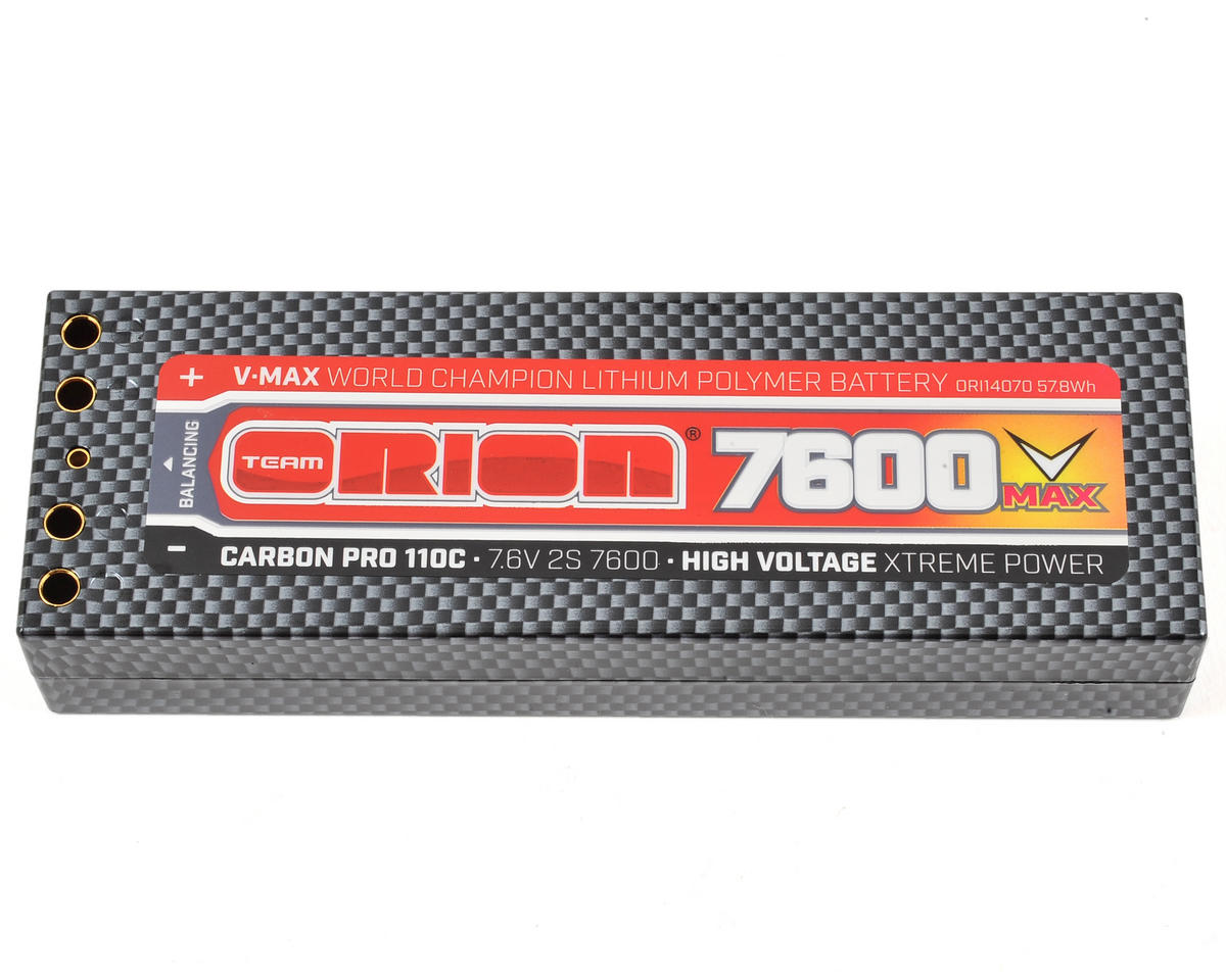 2S Carbon V-Max 110C LiPo Battery (7.6V/7600mAh) by Team Orion