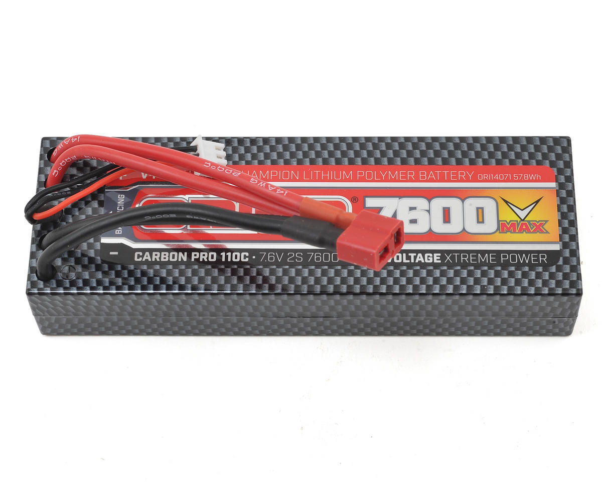 2S Carbon V-Max 110C LiPo Battery Pack w/Deans (7.6V/7600mAh) by Team Orion