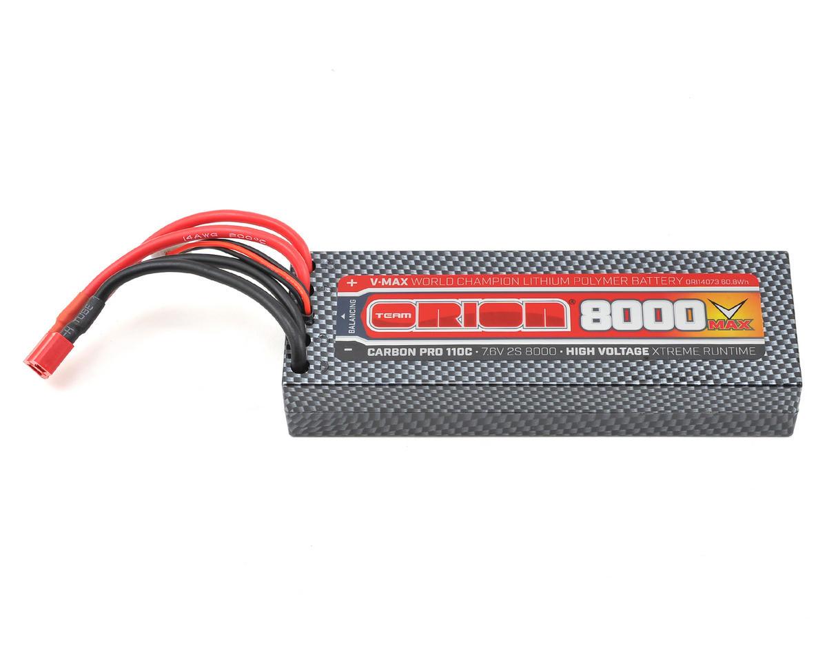Team Orion 2S Carbon V-Max 110C LiPo Battery Pack w/Deans (7.6V/8000mAh)