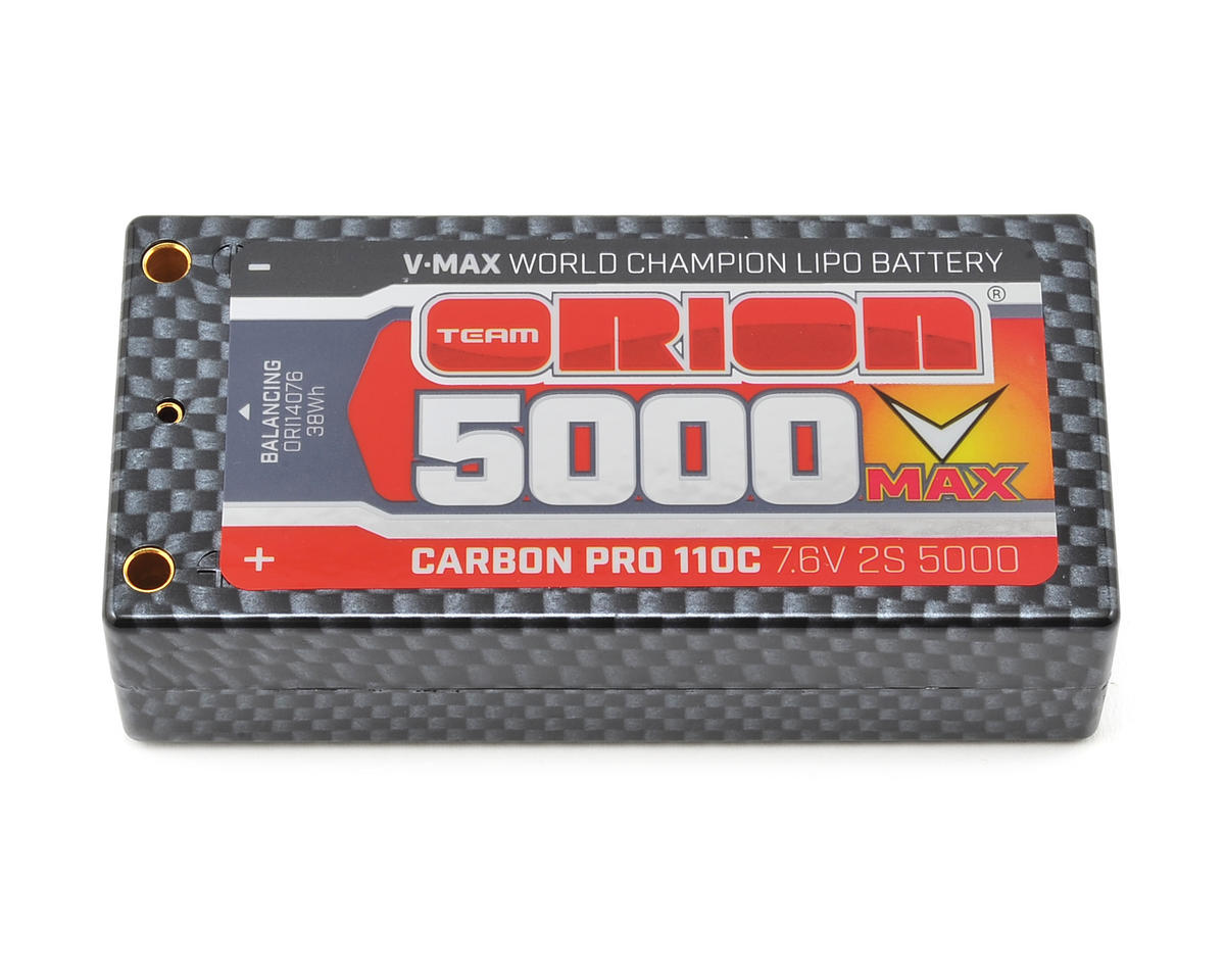 "Team Orion 2S ""Carbon V-Max"" 110C LiPo Shorty Pack Battery"