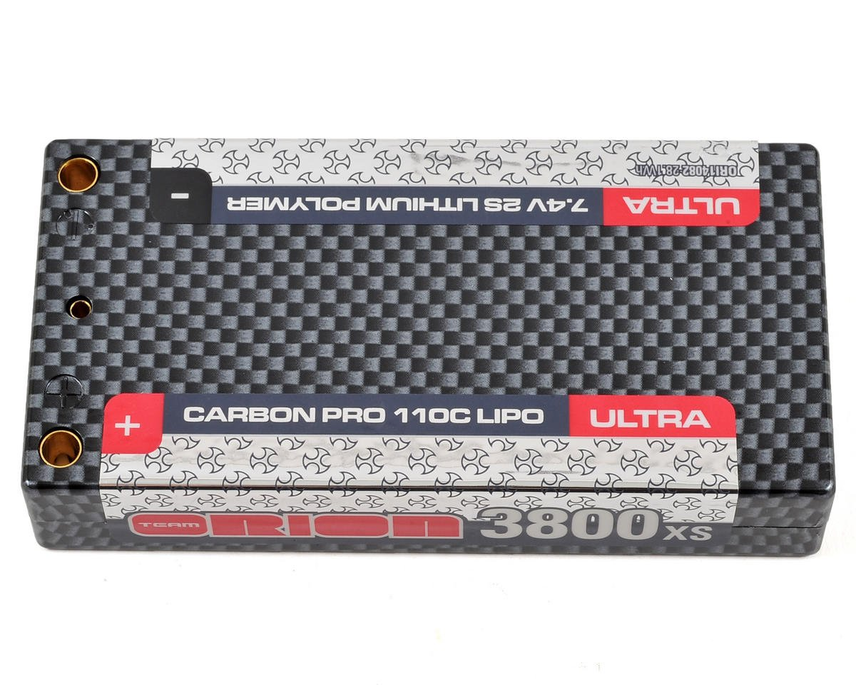2S Carbon Pro Ultra 110C LiPo Shorty Battery (7.4V/3800mAh) by Team Orion