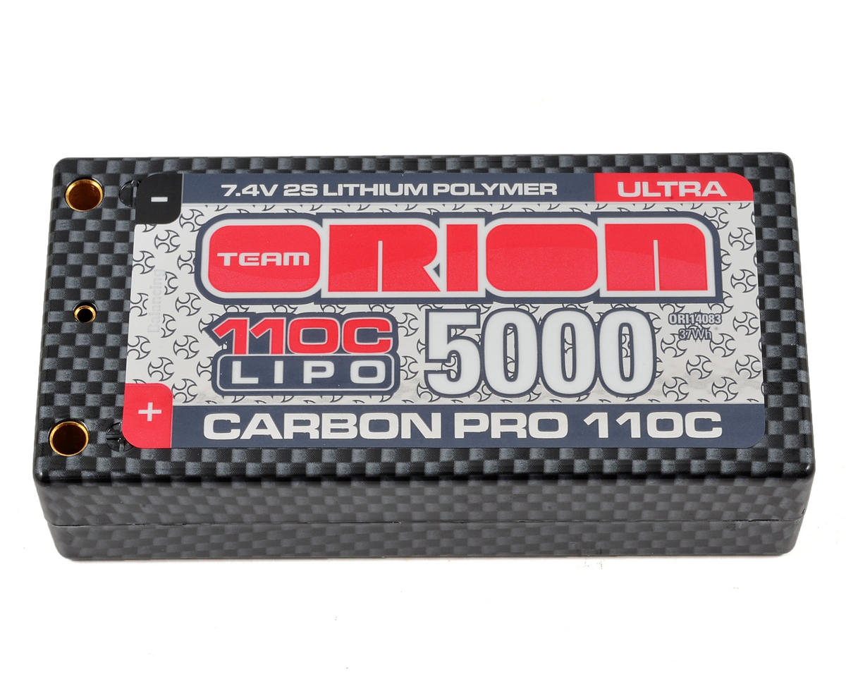 2S Carbon Pro Ultra 110C LiPo Shorty Battery (7.4V/5000mAh) by Team Orion