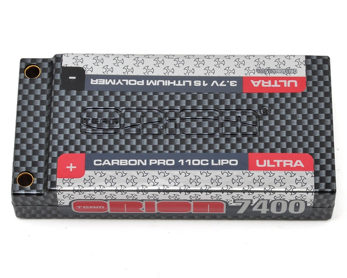 1S Carbon Pro Ultra 110C LiPo Battery Pack w/Tubes (3.7V/7400mAh) by Team Orion