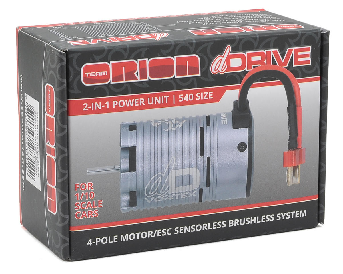 Team Orion dDrive 540 4-Pole Sensorless Brushless Motor System w/Deans (3000kV)