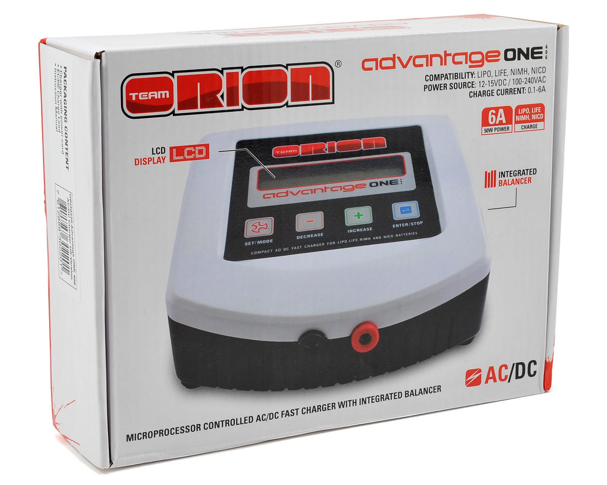 Team Orion Advantage ONE 406 AC/DC Charger (US Version) (4S/6A/50W)