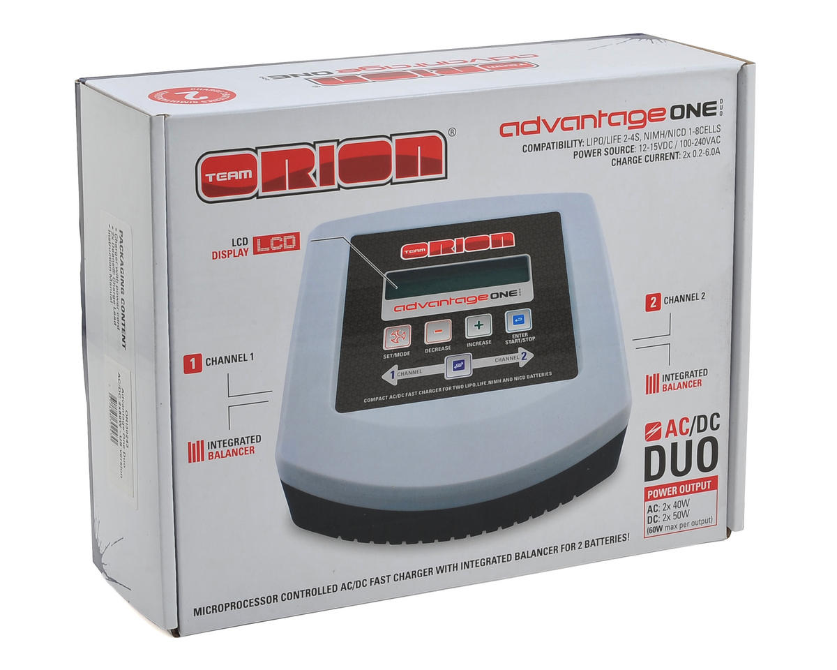Team Orion Advatage ONE Duo AC/DC Charger