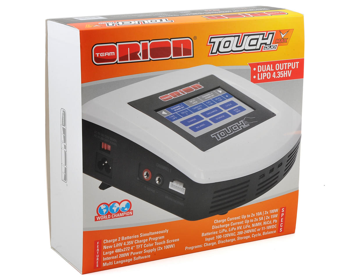Team Orion Advantage Touch Duo V-Max AC/DC Charger (6S/10A/100W x2)