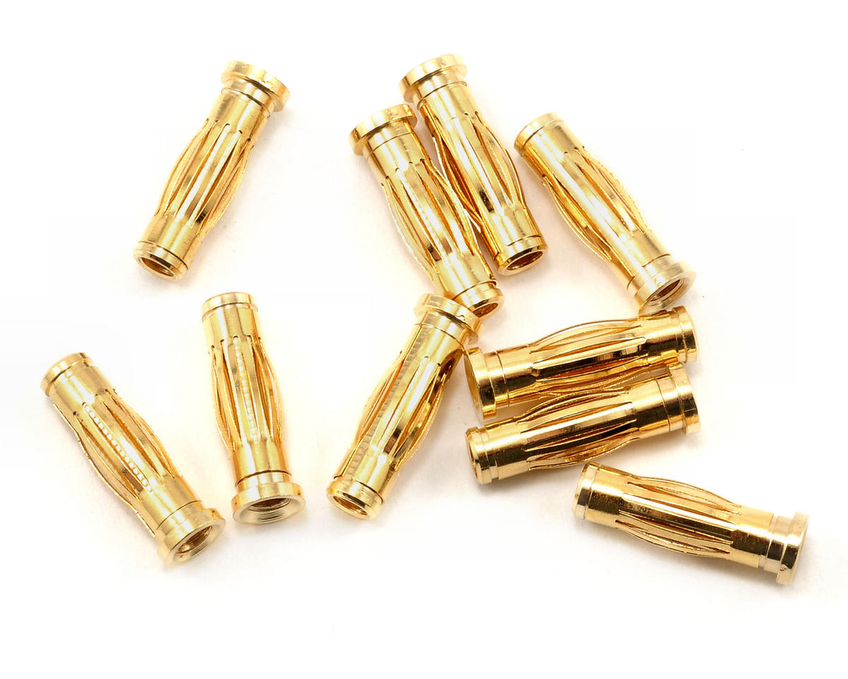 Team Orion 4mm Male Gold Plug Set (10)