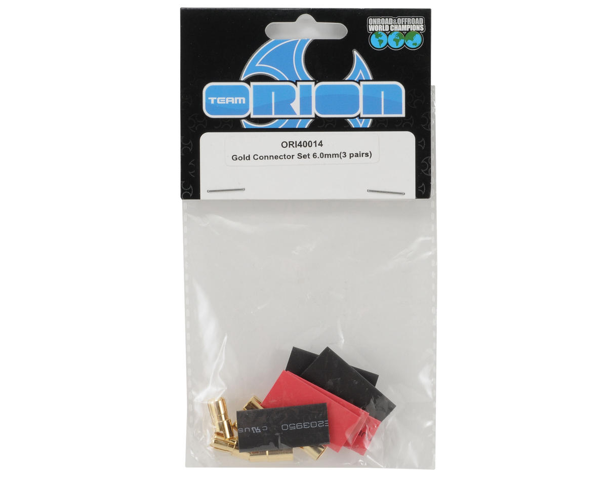 Team Orion 6mm Gold Plug Set (3 Male/3 Female)