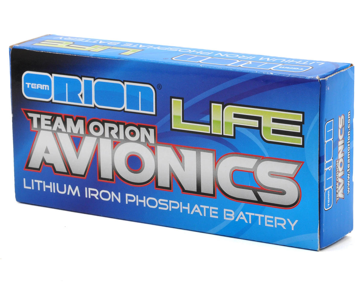 Team Orion Avionics 2S LiFe Receiver Battery 30C w/2mm Gold Connectors (6.6V/3100mAh)