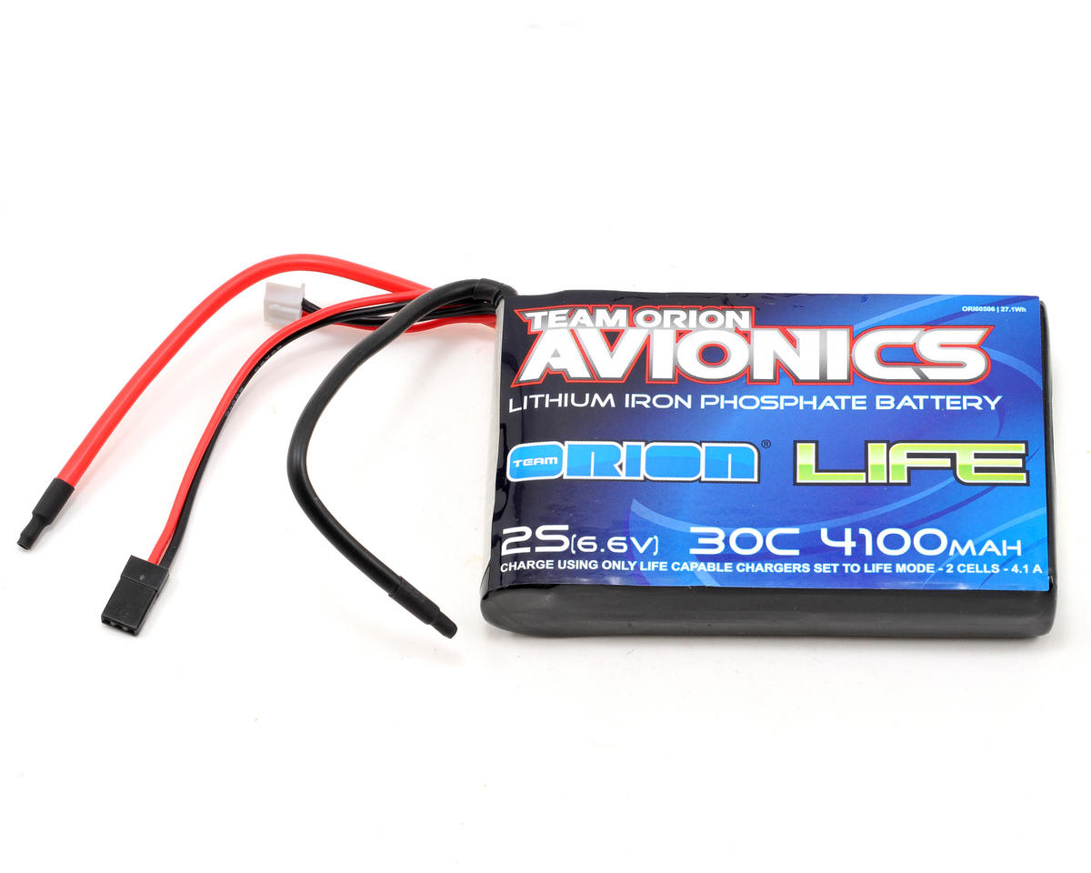 Team Orion Avionics 2S LiFe Receiver Battery 30C (6.6V/4100mAh)