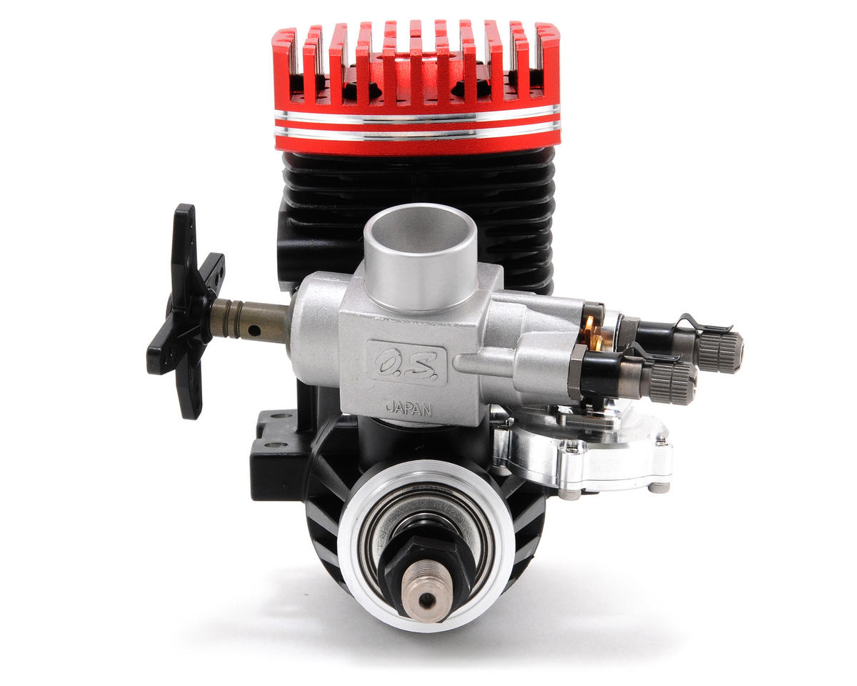 O.S. Max .91 HZ-R 3C Speed Competition F3C Helicopter Engine w/61F Carburetor (Red)