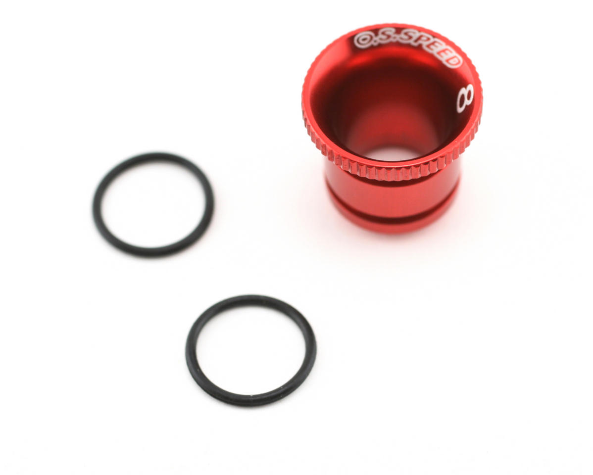 O.S. Red Carburetor Reducer 8mm (Speed .21) (JQ Products THE Engine)