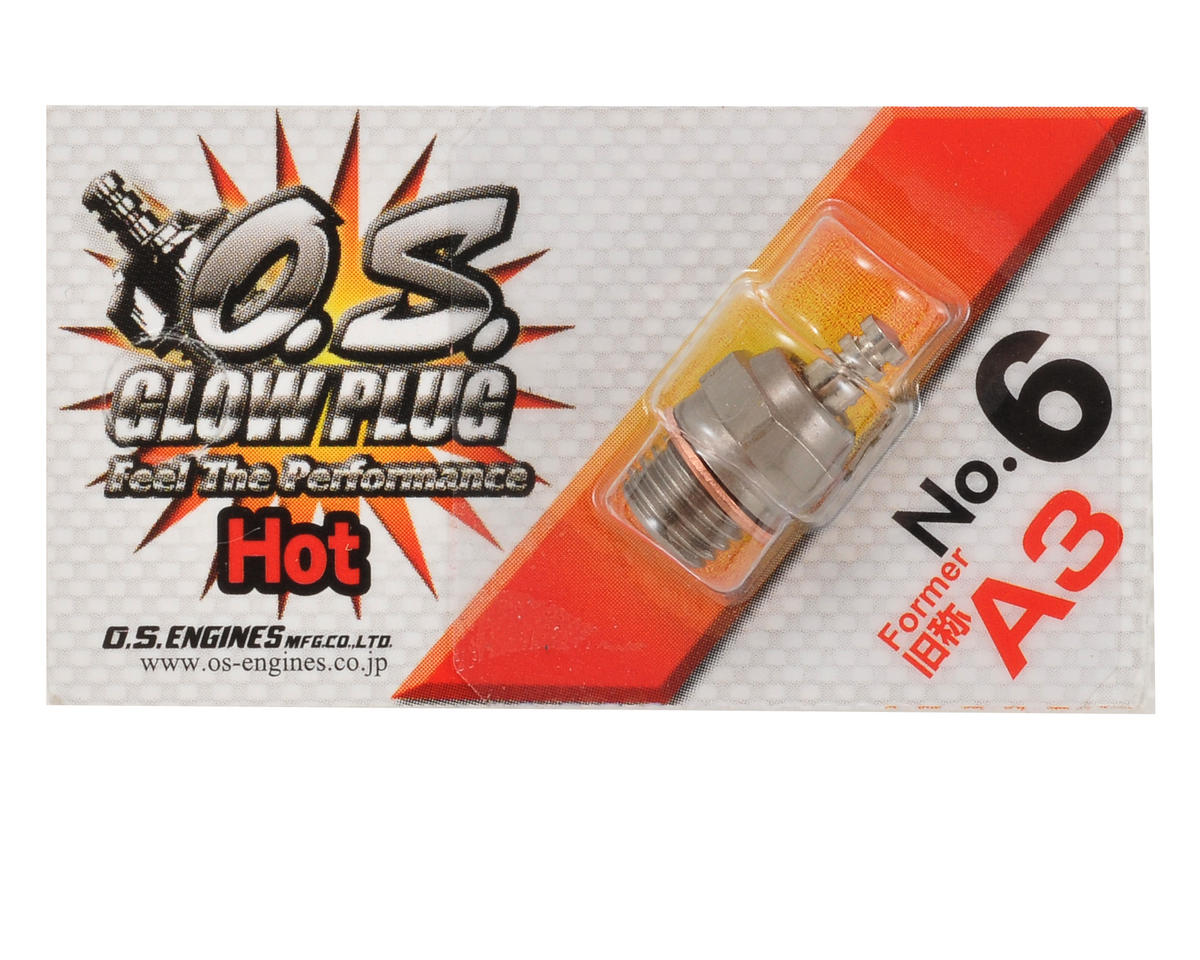 "No.6 Short Body Standard Glow Plug ""Hot"" by O.S."