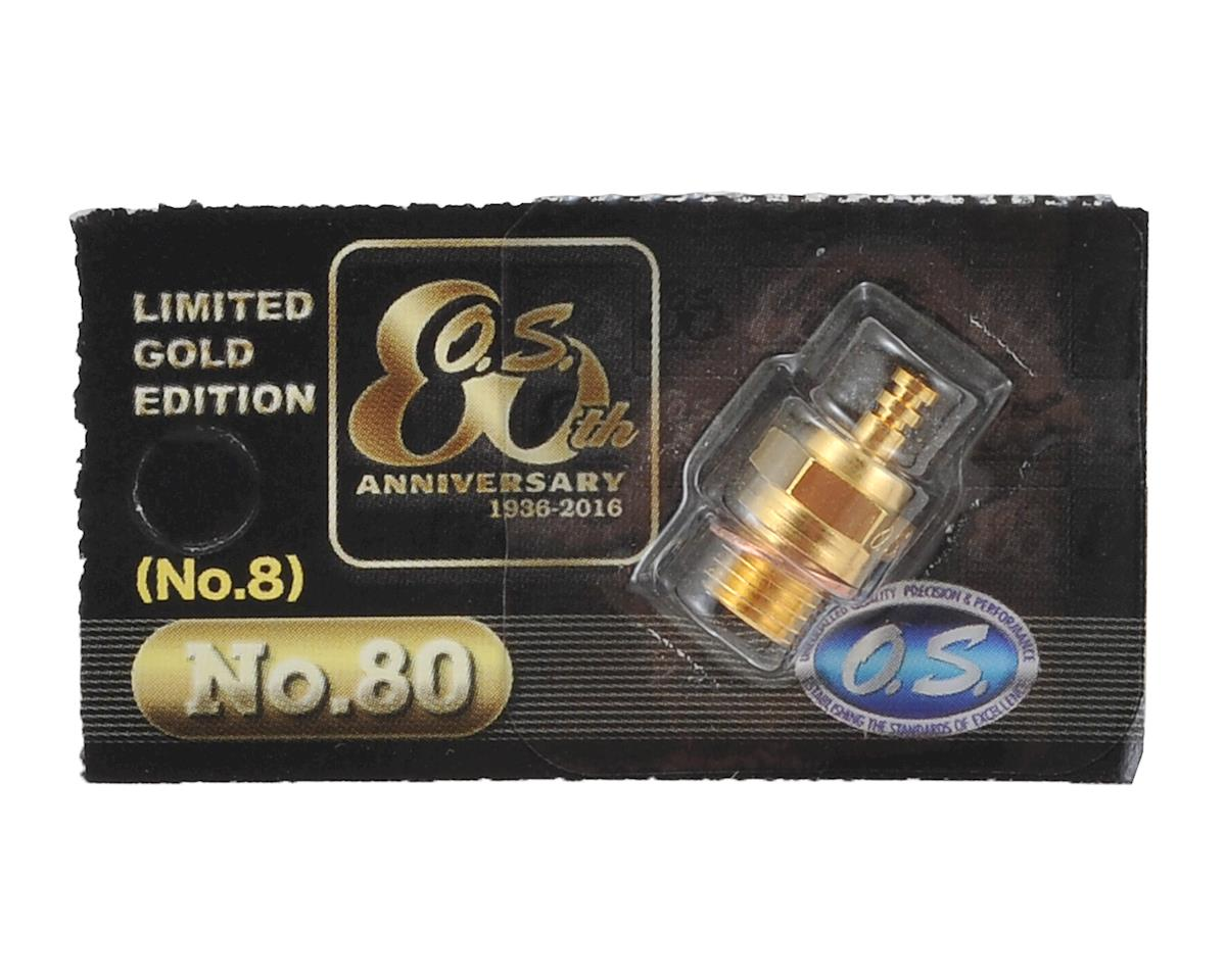 "O.S. No.80 Short Body Gold Limited Edition Standard Glow Plug ""Medium"" (O.S. Engines 91 SZ-H Ringed)"