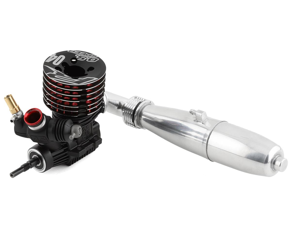 O.S. Speed R2104 .21 9-Port On-Road Engine Combo w/T-2080SC II Silencer (Turbo)