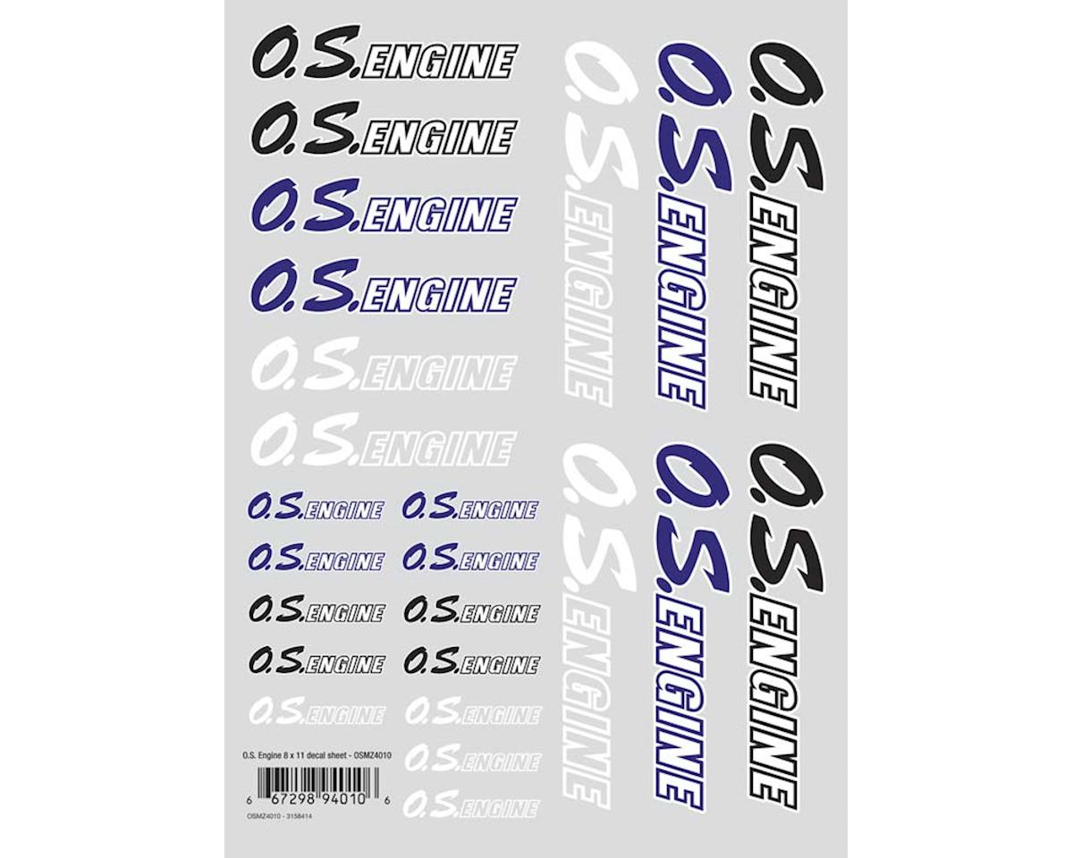 O.S. OS Engine Air Die Cut Decal Sheet 8x11""