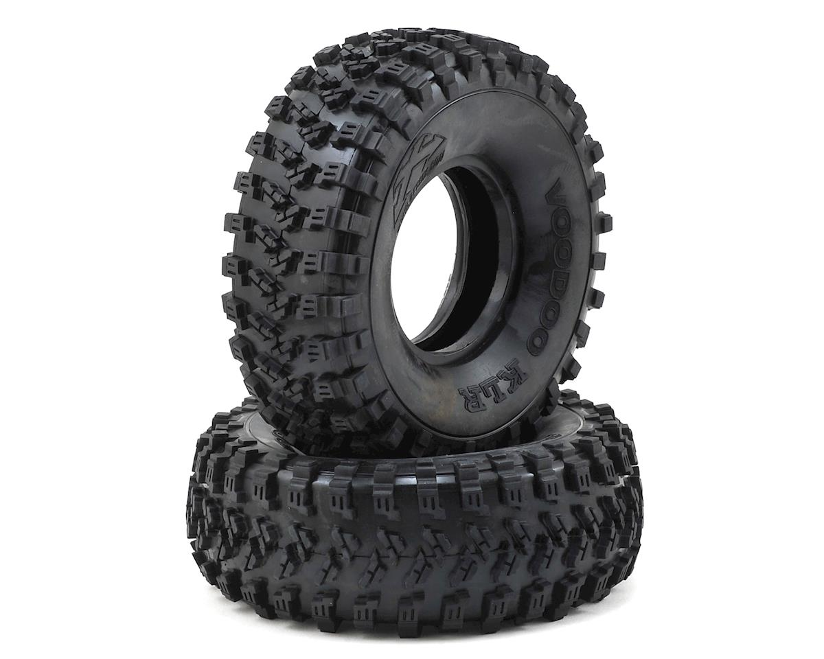 "Team Ottsix Racing Voodoo KLR 1.9"" Crawler Tires (2) (No Foam) (Blue)"