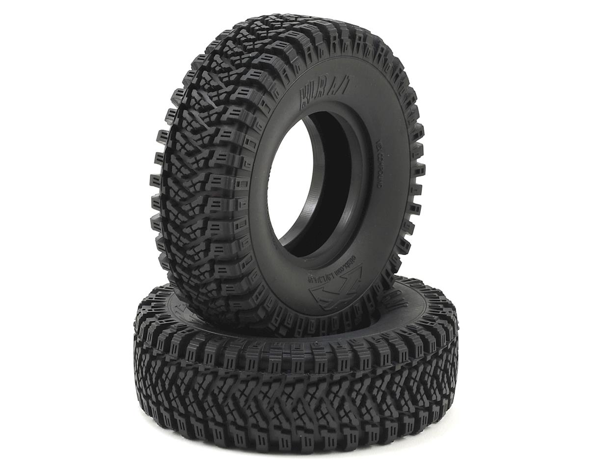 "Team Ottsix Racing Voodoo KLR AT 4.19 1.9"" Crawler Tires (2) (No Foam) (Red)"