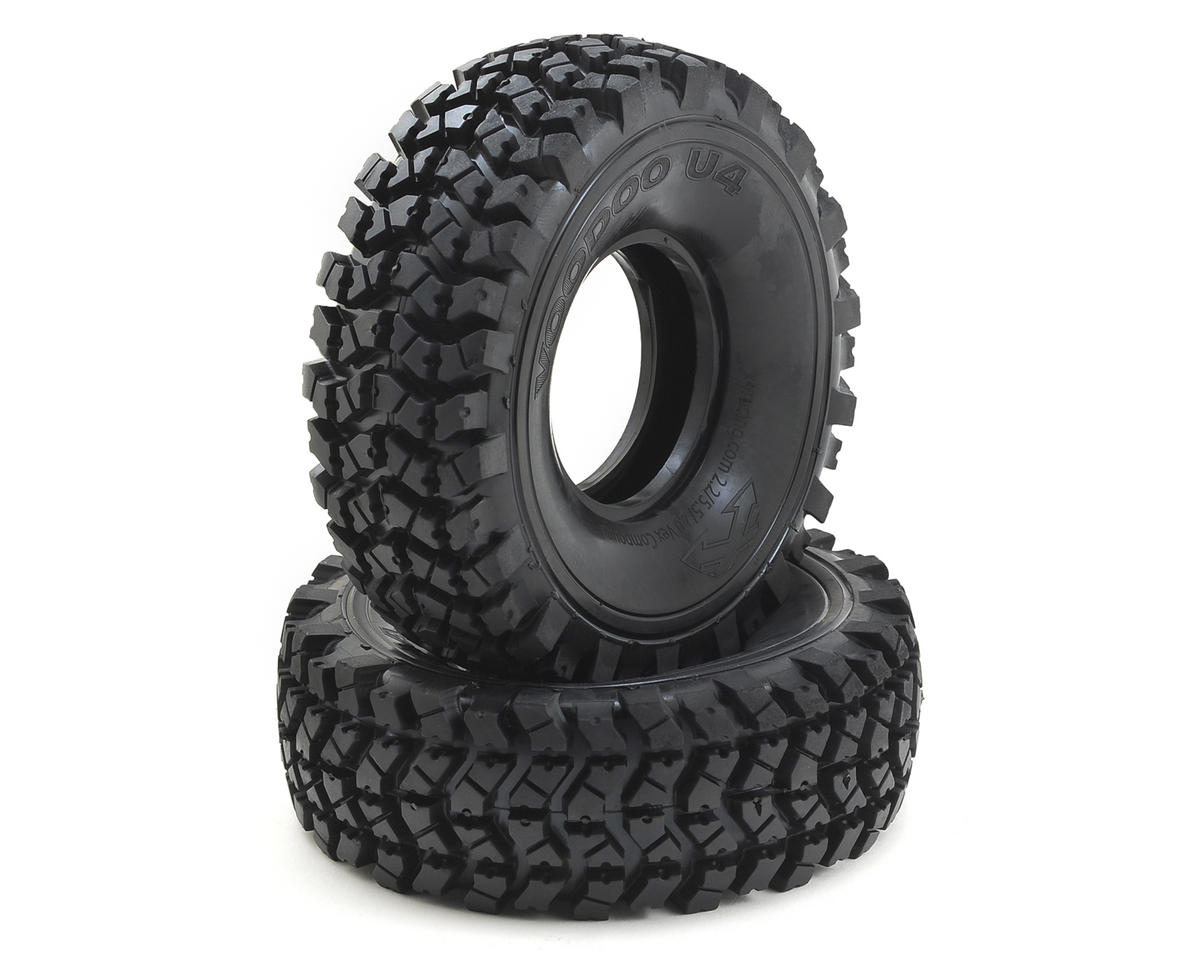 "Voodoo U4 2.2"" Crawler Tires (2) (No Foam) (Silver) by Team Ottsix Racing"