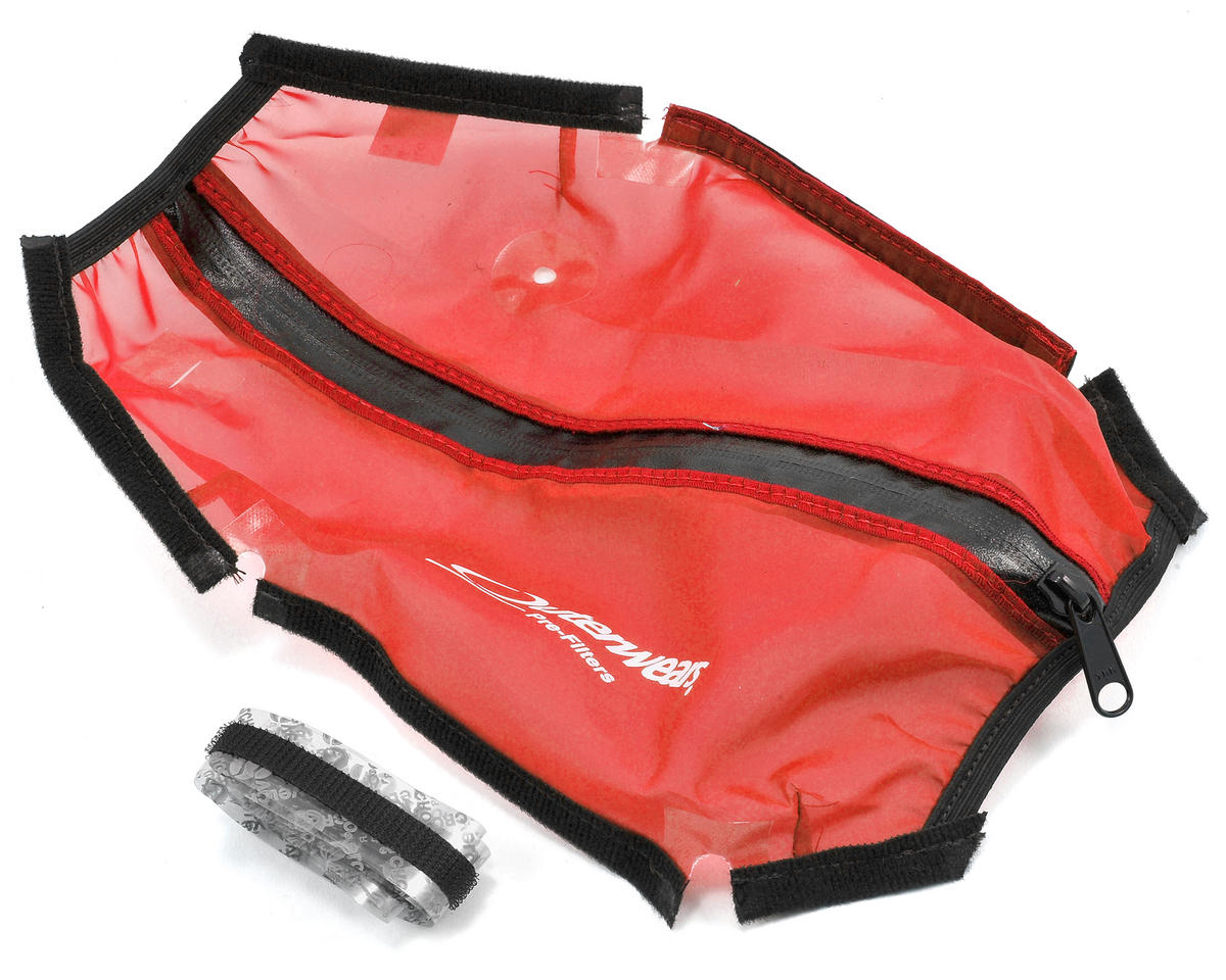 Outerwears Short Course Truck Shroud w/Zipper (Slash 4x4 LCG) (Red)
