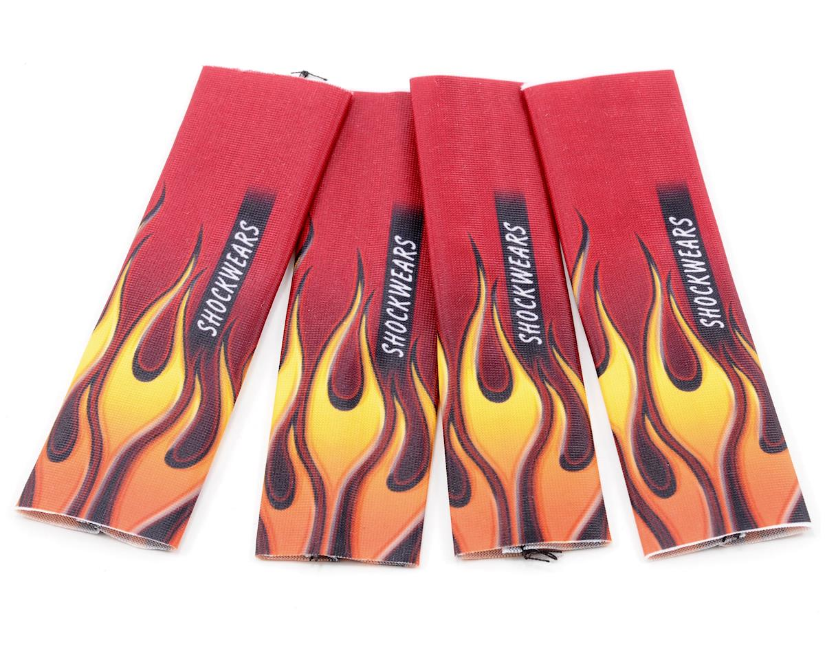 Outerwears Shockwares Flame Evolution Big Bore Shock Covers (4) (Red)