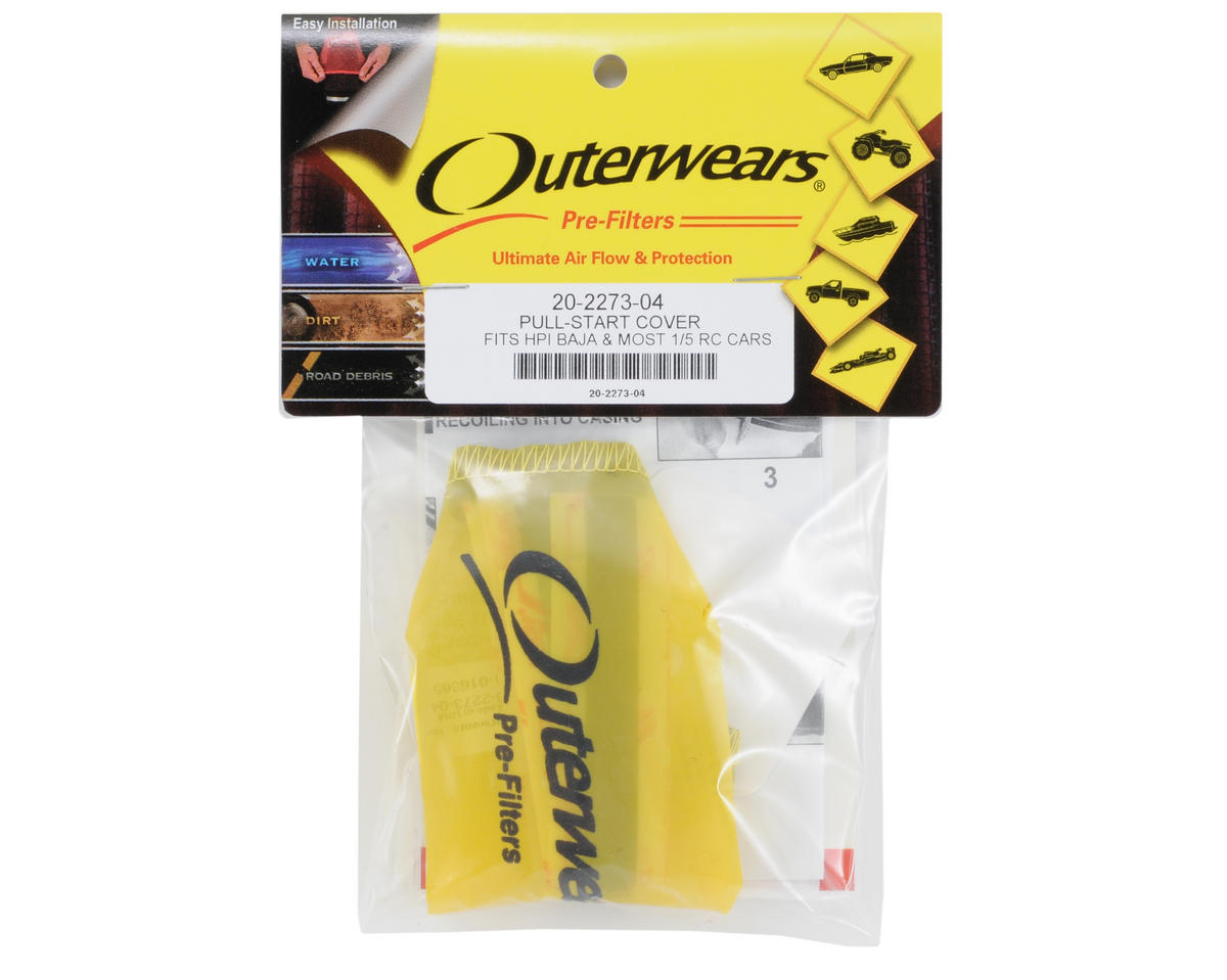 Outerwears Performance 1/5 Scale Pull Starter Pre-Filter (Yellow)