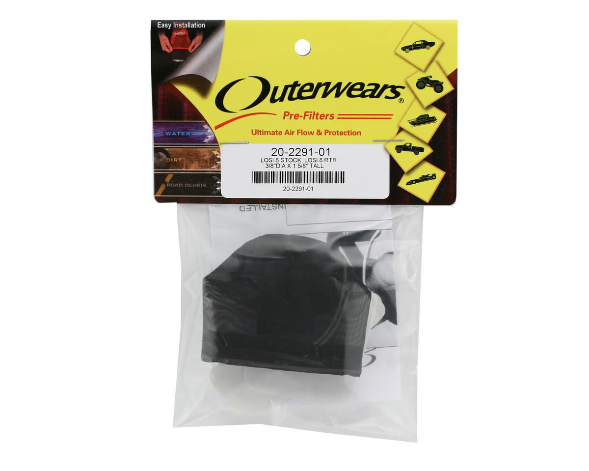 Outerwears Performance Pre-Filter Air Filter Cover (Losi 8ight/8ight-T) (Black)