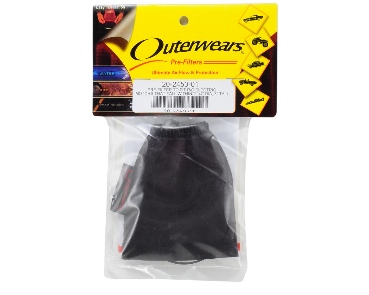 Outerwears Performance Electric Motor Pre-Filter (Black) [OUT20-2450-01] | Cars u0026 Trucks - AMain ...