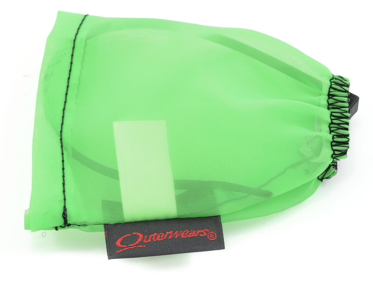 Outerwears Performance Electric Motor Pre-Filter (1 1/8 x 2 3/4 to 1 1/4 Tall) (Lime Green)