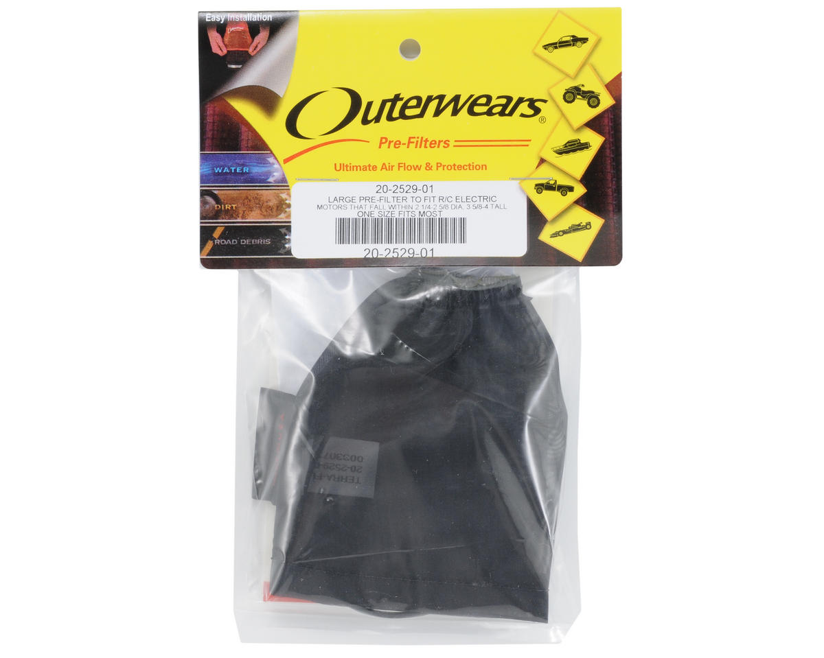 Outerwears Performance Electric Motor Pre-Filter (Black) [OUT20-2529-01] | Cars u0026 Trucks - AMain ...