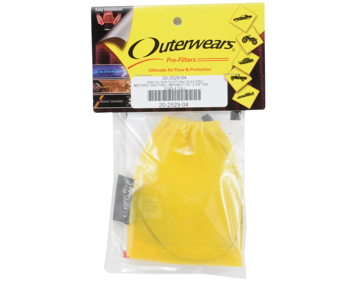 Outerwears Performance Electric Motor Pre-Filter (2 3/4 - 2 5/8 Dia. x 3 5/8 - 4 Tall) (Yellow)