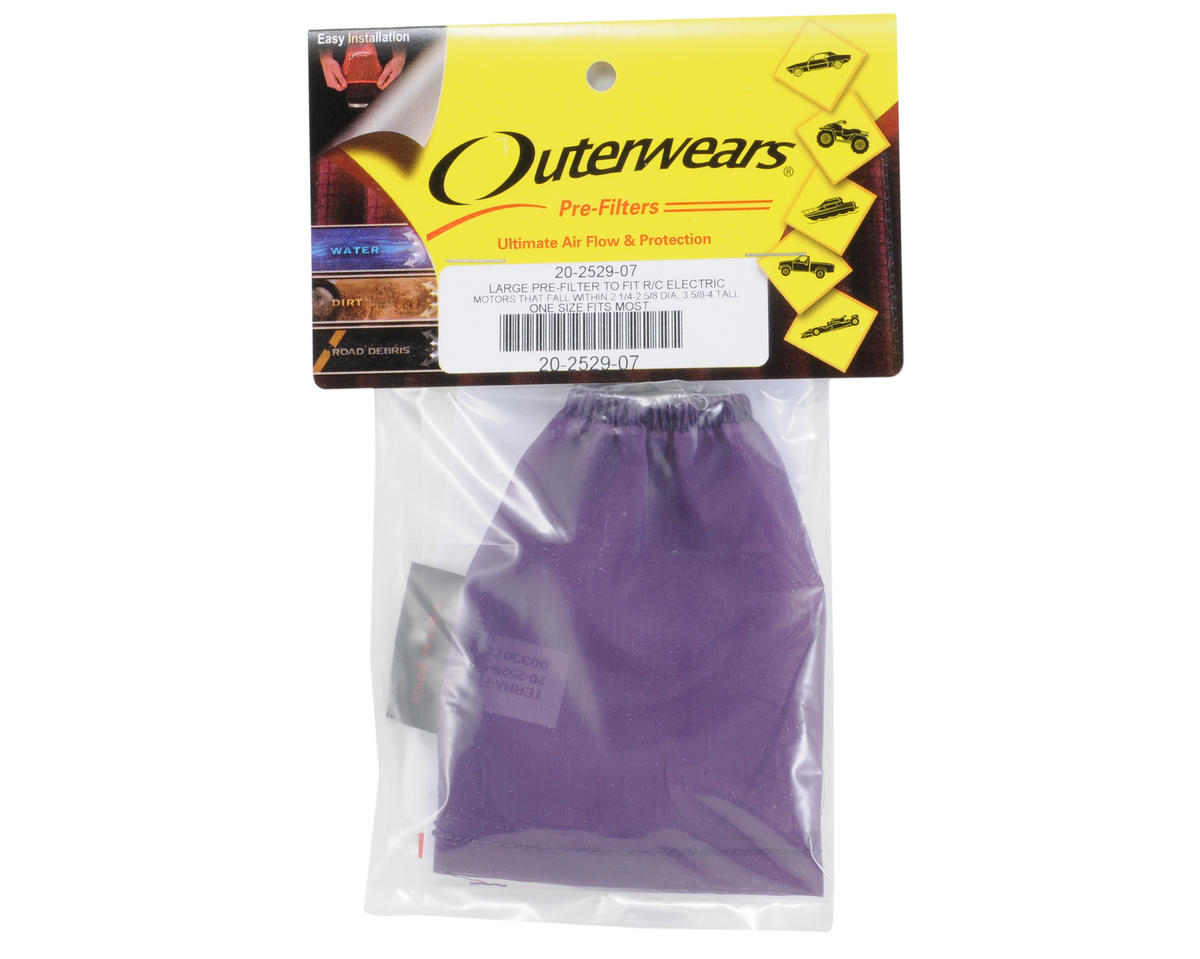 Outerwears Performance Electric Motor Pre-Filter (2 3/4 - 2 5/8 Dia. x 3 5/8 - 4 Tall) (Purple)