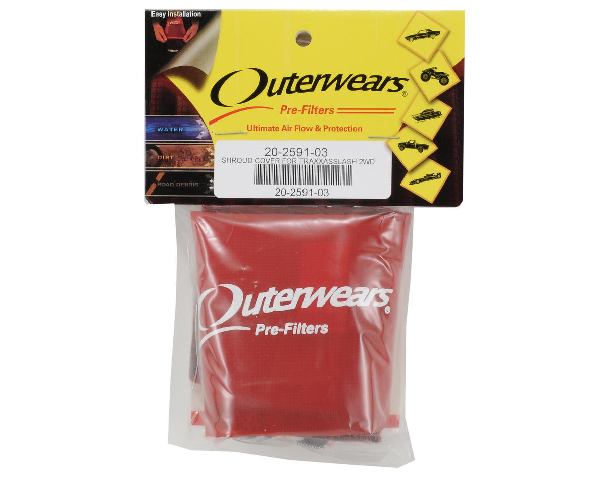 Performance Short Course Truck Shrouds (Slash) (Red) by Outerwears