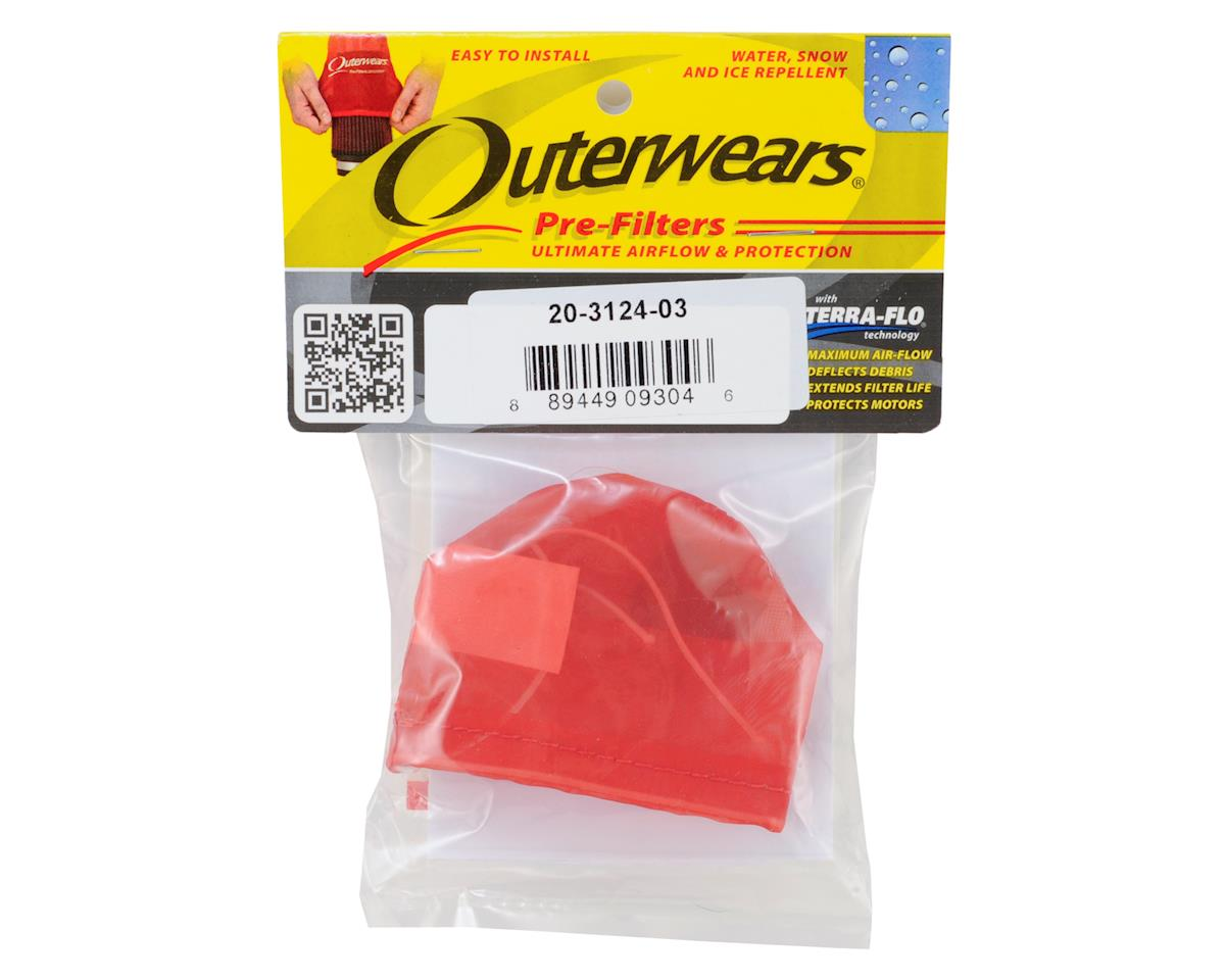 Outerwears Pre-Filter Air Filter Cover (Kyosho MP9) (Red)