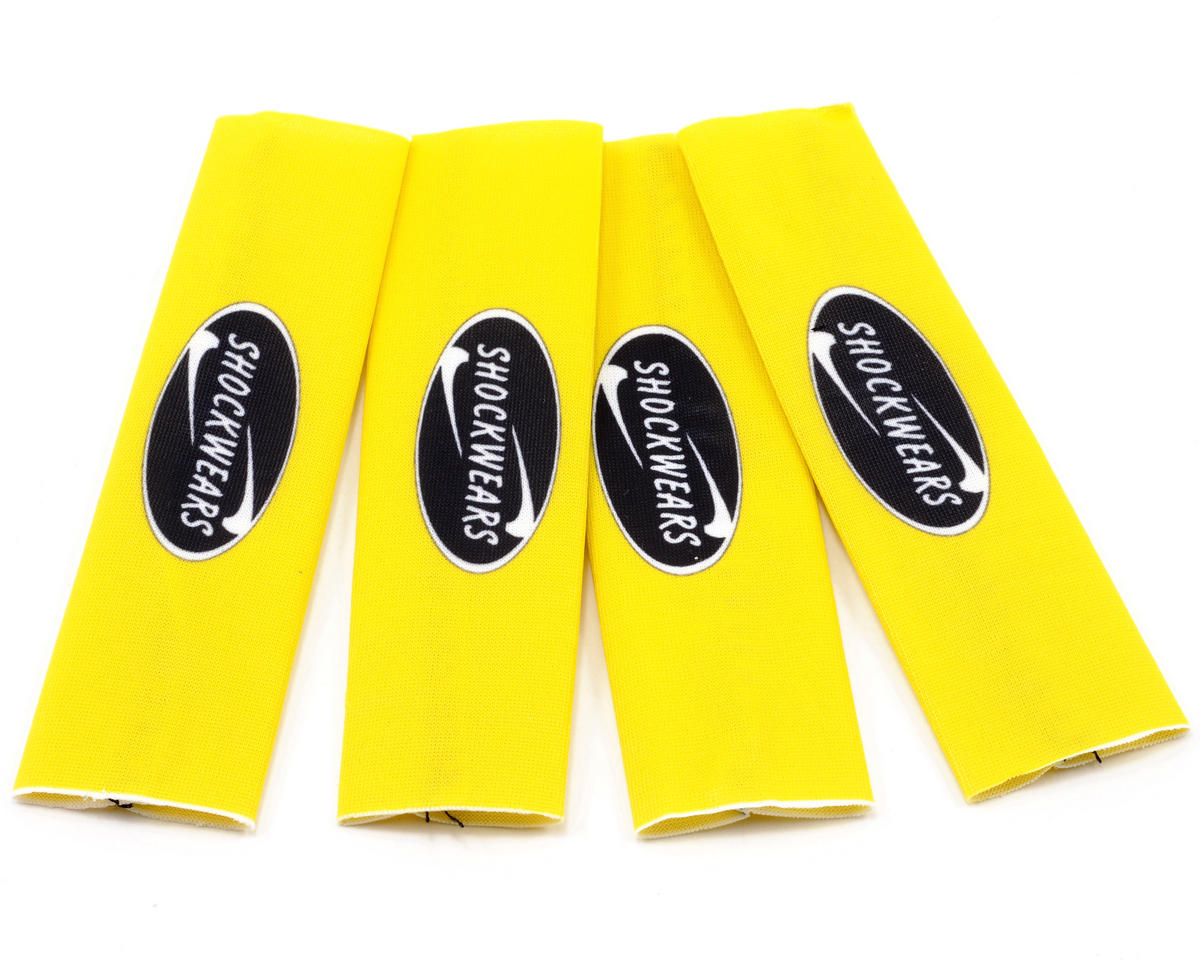 Outerwears Shockwares Evolution Big Bore Shock Covers (4) (Yellow) (OFNA Jammin X2)