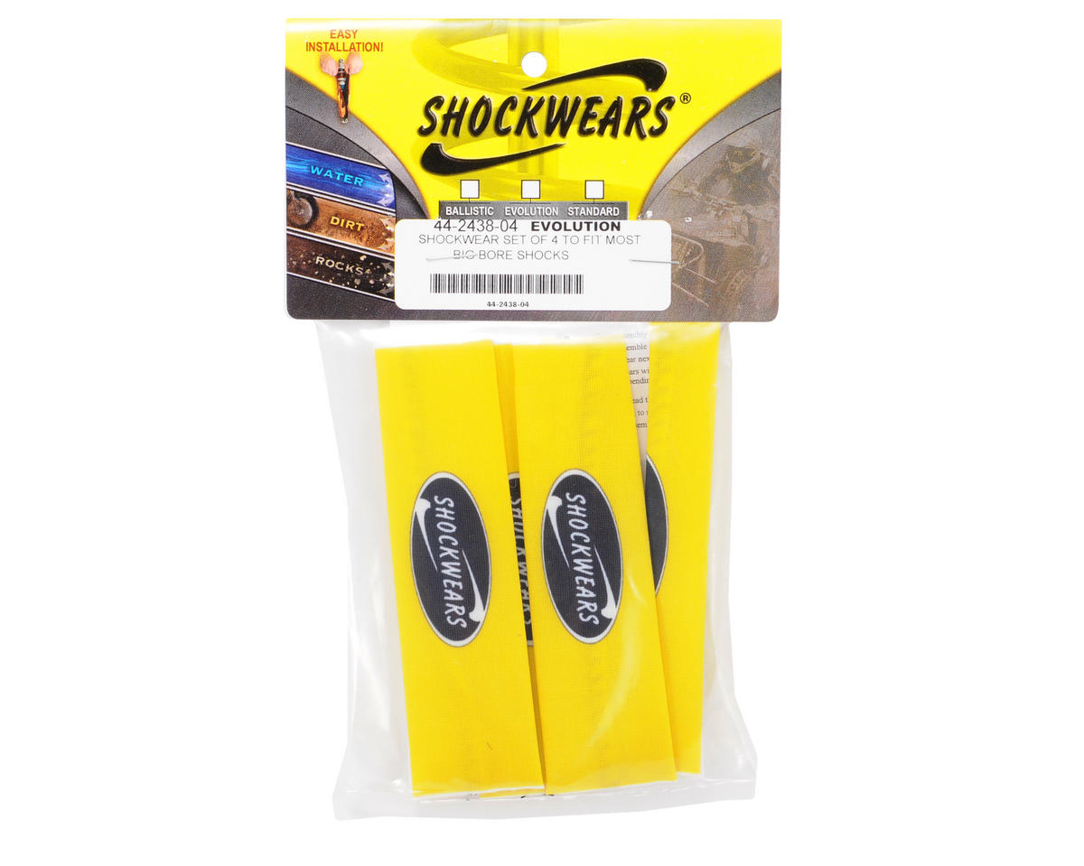 Outerwears Shockwares Evolution Big Bore Shock Covers (4) (Yellow)