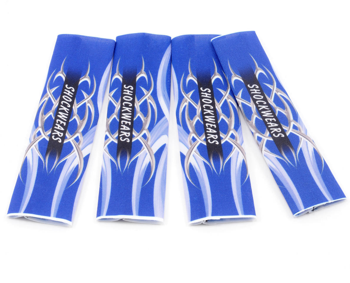 Outerwears Shockwares Tribal Evolution Big Bore Shock Covers (4) (Blue)