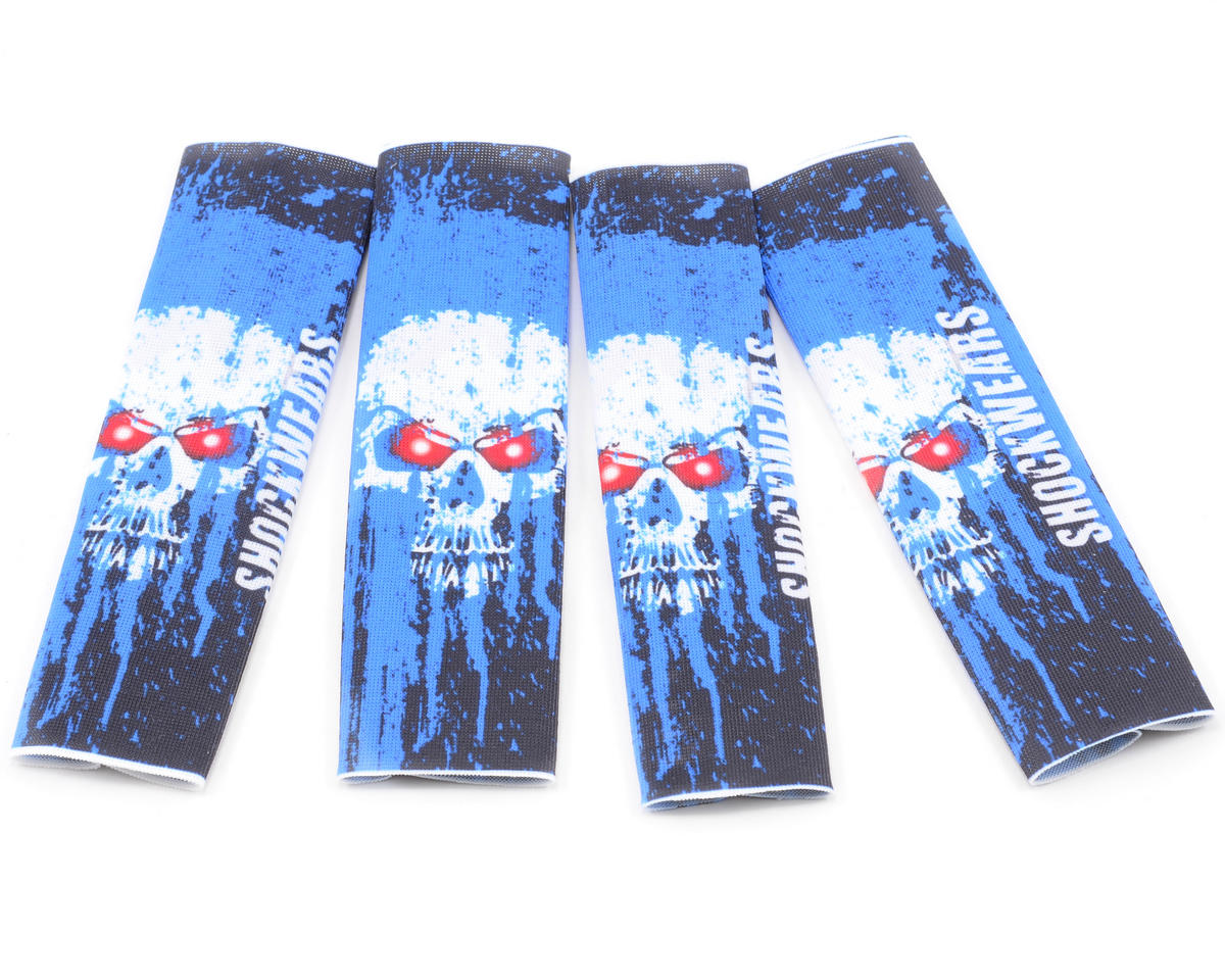 Outerwears Shockwares Skull Evolution Big Bore Shock Covers (4) (Blue)